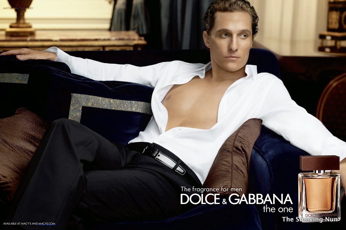 Matthew McConaughey Dolce and Gabbana the one fragrance